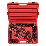 Neiko 02379A 3/4'' Drive SAE Impact Socket Set, 21 Piece | CR-V Steel