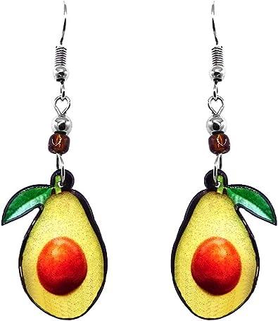 Cute Tiny Food Earrings Avocado Fruit Stud Earrings Hypoallergenic Surgical Steel Stud Earrings Food Jewelry Fruit Stud Earrings