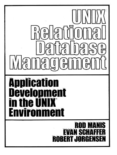 Price comparison product image UNIX (TM) Relational Database Management (Prentice-Hall Software Series)