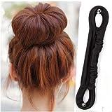1Pc Big Small Elegant French Twist Holder Magic Roll Clip Donut Bun Button Former Pads Foam Hair Maker Braid Ponytail Hairstyle Styling Tool Accessory (Big)