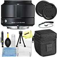 Sigma 19mm f/2.8 DN Lens for Sony E-mount Cameras (Black) + Sunshine Basic Bundle
