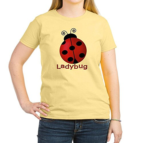CafePress Cute Ladybug Women's Light T-Shirt - Womens Cotton T-Shirt, Crew Neck, Comfortable & Soft Classic (Ladybug Womens Light T-shirt)