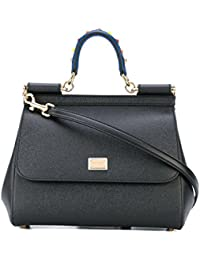 Women's BB6002AI35280999 Black Leather Handbag