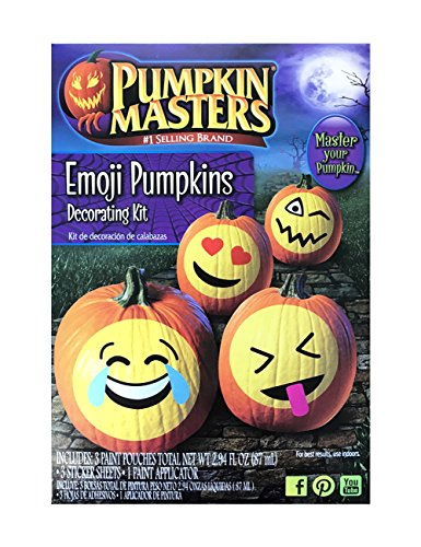 Pumpkin Masters Emoji Pumpkins Decorating Kit