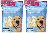 Pet Factory 78106 Beefhide 6″ Braided Sicks. 12 Pack. Made in USA (2 Packages of 6)