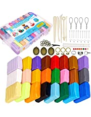 QMAY Polymer Clay, 26 Colors DIY Modeling Clay, Soft Oven Bake Clay with Sculpting Tools, for Children(720g)…