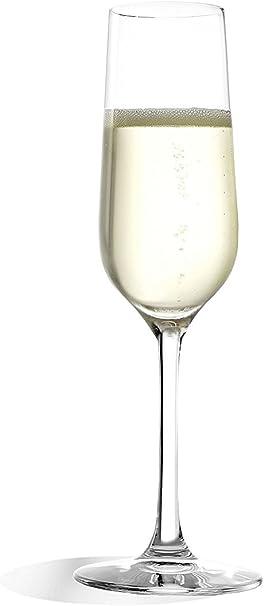 Stölzle_Lausitz Verres à vin Mousseux Revolution de, 200 ML, Lot de 6, flûtes à Champagne hautement fonctionnelles, Verres à vin Mousseux élégants