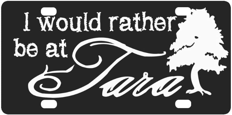 QUICKMUGS2U Famous Movie Quote License Plate I'd Rather Be at Tara Car Tag Embossed Tag Home Bar Cafe Pub Decor