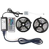 LEDniceker 5050 LED Strip Lights - 32.8ft / 10M Flexible 5050 RGB LED Light With 44key LED Controller and DC 12V5A Power Adapter