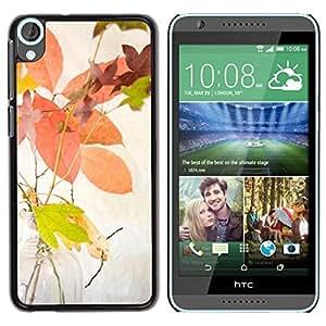 Be Good Phone Accessory // Dura Cáscara cubierta Protectora Caso Carcasa Funda de Protección para HTC Desire 820 // Autumn Leaves Yellow Colorful Nature