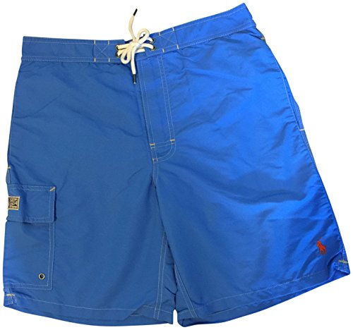Ralph Lauren Polo Mens Solid Kailua Swim Trunks Jewel Blue S Kailua Trunk