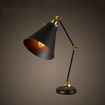 PLL Lámpara de mesilla de Noche de Estilo Industrial Retro ...