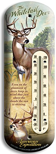 American Expedition 3D Tin Thermometer - Whitetail Deer by American Expedition