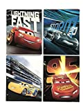 Cars 3 Movie - Set of 4 Two Pocket Folders for School