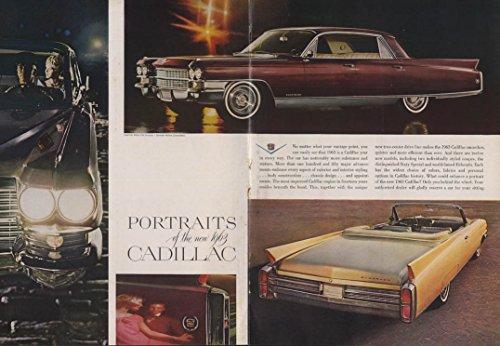 Portraits of the new Cadillac Fleetwood Eldorado Coupe de Ville ad 1963 NY