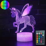 kitchen color ideas YOUNSH 3D Unicorn Light, 3D Unicorn Lamp Kids Night Light 16 Colors Changing with Smart Touch Remote Control Unicorn Party Supplies Kids Lamp As a Gift Idea for Girls Boys