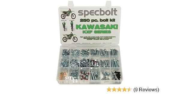 120pc Specbolt Kawasaki KXF 250 450 four stroke Bolt Kit for Maintenance /& Restoration of MX Dirtbike OEM Spec Fastener KX250F KX450F KXF250 KXF450