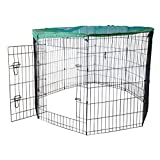 Cool Runners Wire X Pen with Sun/Rain Security Covers and Gate (36-Inchs High x 24-Inchs Wide Per Section)