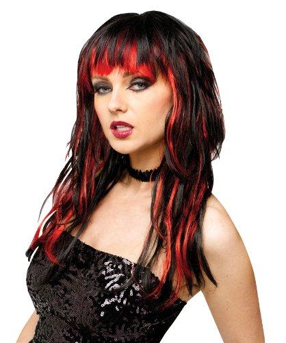 Black Temptress Costumes Wig (Wig Temptress Wig Black/Red)