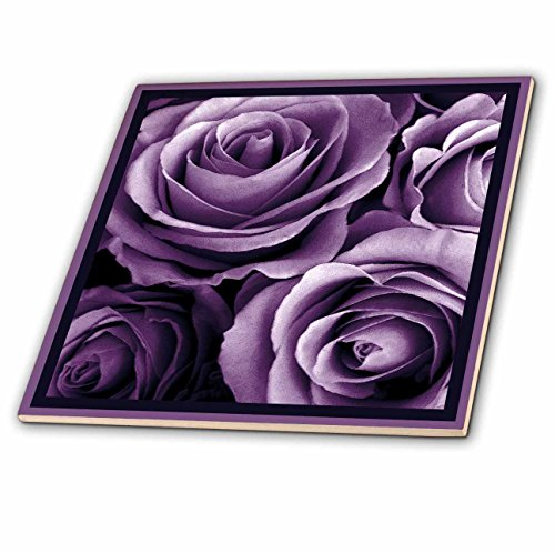 3dRose ct_29807_4 Close Up of Dreamy Lavender Purple Rose Bouquet-Ceramic Tile, 12-Inch