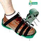 Fixm Shoes for Aerating Lawn Soil, Universal Size, 4 Adjustable Straps with Serrated Zinc Alloy Buckles for Effective Treating Fertilize