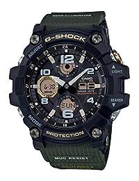 Casio Men's 'G-Shock' Quartz Resin Casual Watch, Color:Black (Model: GWG-100-1A3CR)
