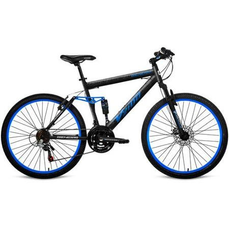 "26"" Genesis V2100 Men's Mountain Bike with Full Suspension Blue"