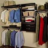 Woodcrest 120'' Wide Closet System Finish: Espresso