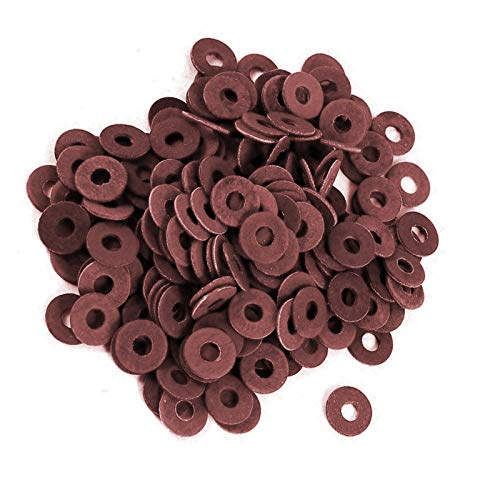Computer Motherboard Washers (200 Pack) PCB Insulating Fiber Washers/Gaskets / Insulated Spacers Maroon/Red Color Used for Screw Insulation ()