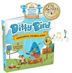 SING   ALONG    The   Ditty   Bird   book   series   includes   5   beautifully   illustrated   singsong   books for   babies   and   toddlers   ages   6   months   to   3   years.   Every   interactive   book   features   lovable,  Ditty   B...