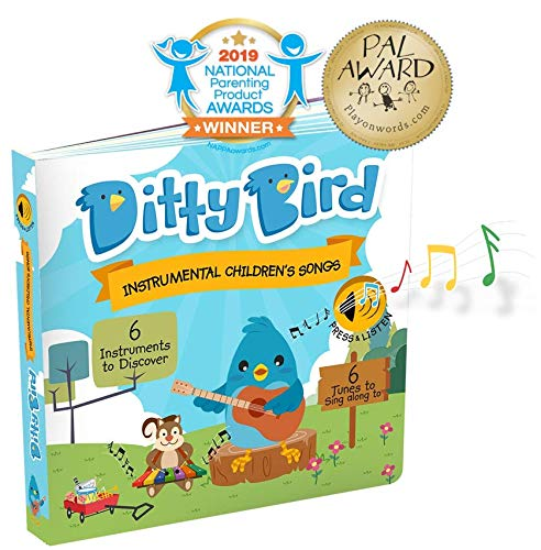Our Best Interactive Instrumental Music Book for Babies. Educational Toys for one Year Old. Toddler Musical Sound Book. Musical Instruments Learning Toys. 1 Year Old boy Girl Gifts. Blue