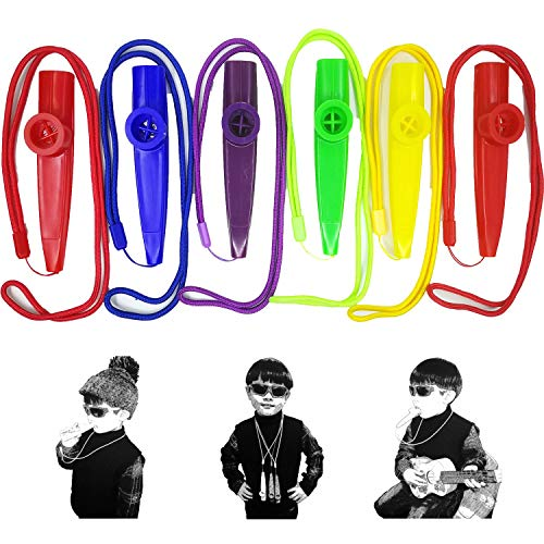 - Fartime 6Pcs Plastic Kazoos With Lanyards,Musical Instruments,Good Gift for Kids,A Good Companion for Ukulele, Violin, Guitar,Piano Keyboard.