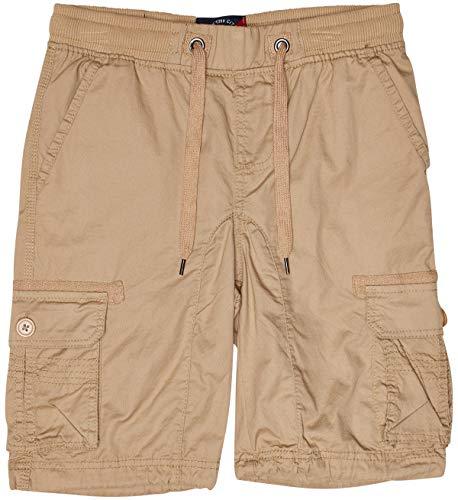 LR Scoop Boys Twill Cargo Shorts, Khaki, Size 8'