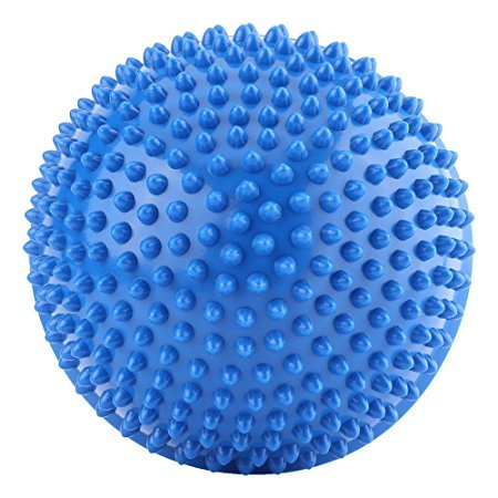 Wisdomlife 2 PCS Foot Spiky Massage Balls,PVC Inflatable Half Yoga Foot Trigger Points Exercises Fitness Balance Ball For Deep Tissue by Wisdomlife