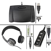 Infinity IN-USB-2 USB Foot Pedal with Overhead OH3.5MSVC Headset