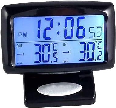 Horloge de temp/érature 2 en 1 pour appareils /électroniques de voiture