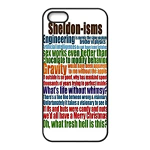 Customize Generic Rubber Material Phone Cover The Big Bang Theory Quotes Back Case Suitable For iPhone 5 iPhone 5s