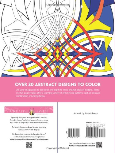 Amazon Creative Haven Abstract Designs Coloring Book Adult 9780486779560 Brian Johnson Books