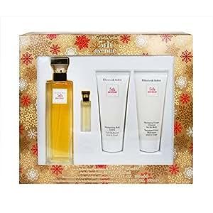 Set Elizabeth Arden 5th Avenue Mujer EDP 125 ml + Loción Corporal + Crema Hidratante + Miniatura