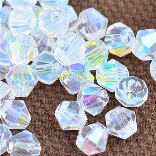 lass Crystal 4mm 1000pcs Bicone Beads loose beads ()