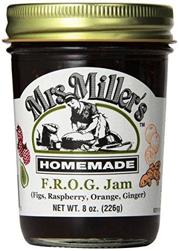 Mrs. Miller's Jam, F.R.O.G,8 oz. jar each, Pack of 3