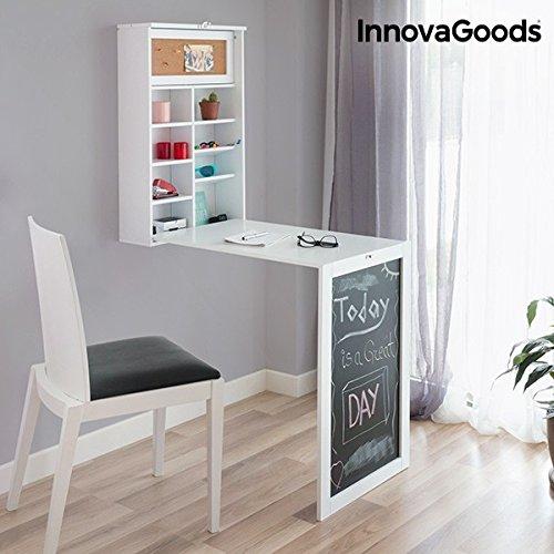InnovaGoods scrivania pieghevole da parete, legno, bianco, 80x 50x 18cm IGS .