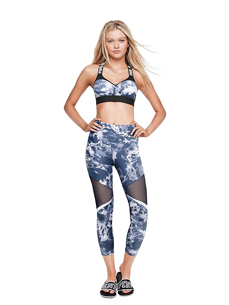 772113de5bf878 Amazon.com: Victoria's Secret Pink New Ultimate High Waist Ankle Legging  with Mesh Blue Medium NWT: Clothing