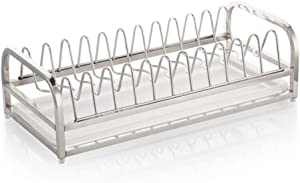 Dish Racks Kitchen Rack Stainless Steel Rack Mobile Kitchen Drainboard Single Layer Collector (Size : L)
