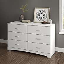 South Shore Step One Collection 6-Drawer Double Dresser, Pure White
