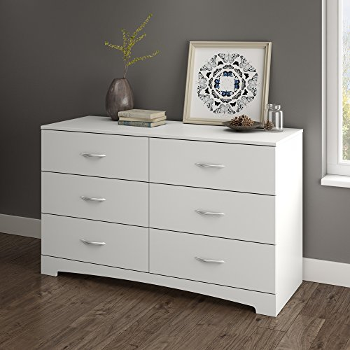 South Shore Step One Collection 6-Drawer Double Dresser, Pure - Furniture Dressers Modern