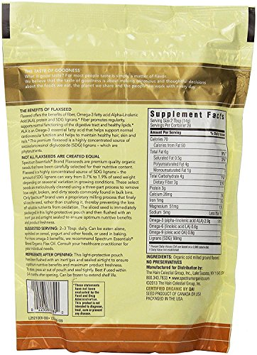 Spectrum Essentials Organic Ground Flax Seed, 14 Ounce (Pack of 12) by Spectrum (Image #1)
