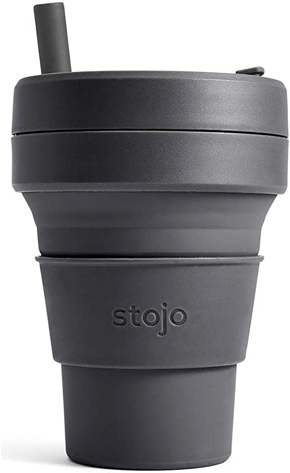 Starbucks STOJO Silicone Collapsible Cup with Straw 16oz