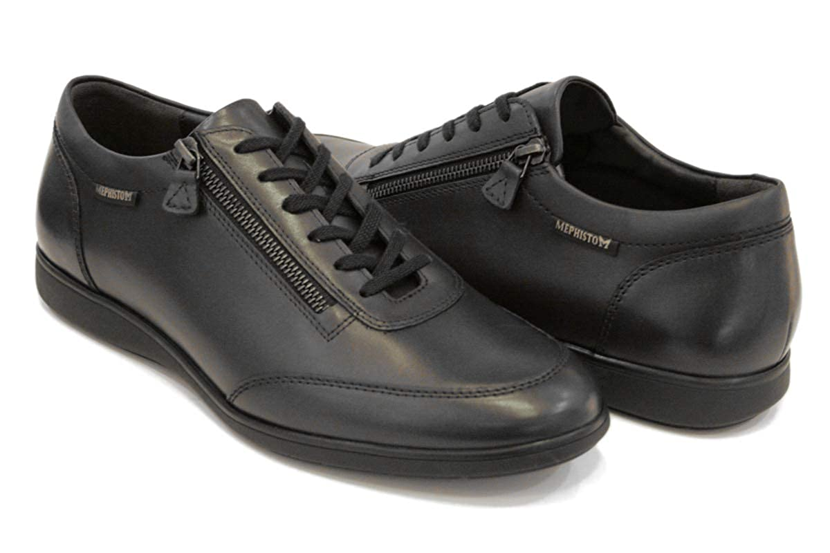 TALLA 10,5. Mephisto - Zapatos de Cordones de Piel Lisa Hombre