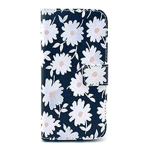 Thematys flores de piel sintética para Apple iPhone 6 blanco